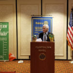 Rotarian Mayor Peter Rustin giving Invocation -Tenafly Rotary Teachers